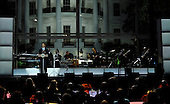 "Washington, DC - October 13, 2009 -- United States President Barack Obama speaks at a White House Music Series ""Fiesta Latina"" on the South Lawn of the White House in Washington on Tuesday, October 13, 2009. .Credit: Alexis C. Glenn / Pool via CNP"