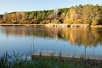 &quot;Autumn at Hartley Pond&quot;<br /> Hartley Pond glows from the late afternoon sun on a beautiful Fall day.