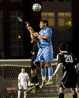 Number one seed University of North Carolina Tarheels against Coastal Carolina Chanticleers at UNC's Fetzer Field.    UNC won 3-2.