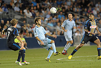 Sporting KC midfielder Graham Zusi in action.Sporting Kansas City defeated Philadelphia Union 2-1 at LIVESTRONG Sporting Park, Kansas City, KS.