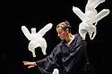London, UK. 08.01.2014. Compagnie Non Nova/ Phia Menard present L'APRES MIDI D'UN FOEHN, at the Platform Theatre, Central St Martin's. The performer is Cecile Briand. Photograph © Jane Hobson.