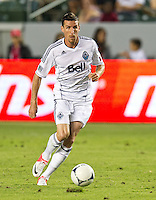 CARSON, CA - July 7, 2012: Vancouver Whitecaps forward Sebastian Le Toux (7) during the Chivas USA vs Vancouver Whitecaps FC match at the Home Depot Center in Carson, California. Final score Vancouver Whitecaps FC 0, Chivas USA 0.