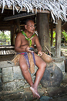 Chief preparing betel, Yap Micronesia (Photo by Matt Considine - Images of Asia Collection)
