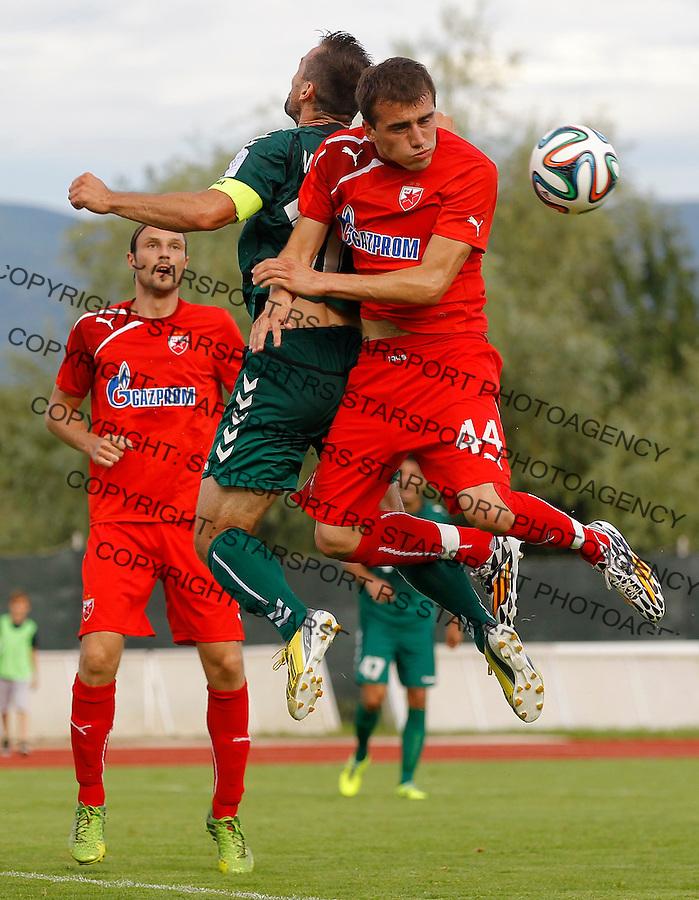 Fudbal season 2013-2014<br /> FK Crvena Zvezda pripreme<br /> Crvena Zvezda v Krka<br /> Nenad Gavric (R)<br /> Novo Mesto, 07.12.2014.<br /> foto: Srdjan Stevanovic/Starsportphoto &copy;