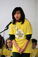 NO FEE PICTURES.8/3/12 Nicolle Oller, St Brigids, Glasnevin, taking part in the Dublin County final, part of the overall Eason 2012 Spelling Bee, held at St Olaf's NS, Dundrum. .For further details visit www.easons.com/spellingbee and stay tuned to RTE 2fm. Picture:Arthur Carron/Collins