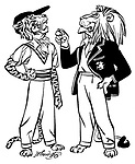 Notes for an Indian Summer ; Indian cricket tour ..British Lion and Indian Tiger chatting .