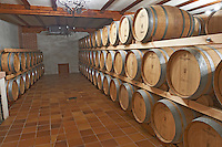 the barrel aging cellar , Bodegas Otero, Benavente spain castile and leon