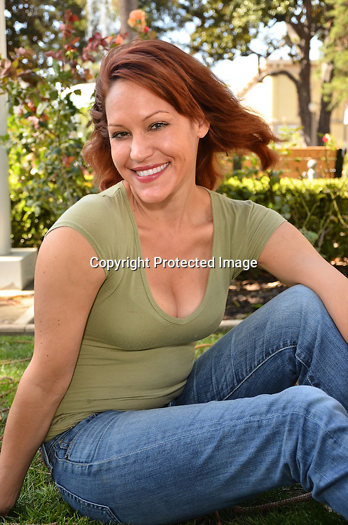 Stock photo of Woman in park setting