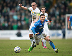 St Johnstone v Celtic.....14.02.15<br /> Micahel O'Halloran is fouled by Scott Brown<br /> Picture by Graeme Hart.<br /> Copyright Perthshire Picture Agency<br /> Tel: 01738 623350  Mobile: 07990 594431