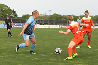 Piscataway, NJ - Saturday May 20, 2017: Leah Galton, Kealia Ohai during a regular season National Women's Soccer League (NWSL) match between Sky Blue FC and the Houston Dash at Yurcak Field.  Sky Blue defeated Houston, 2-1.