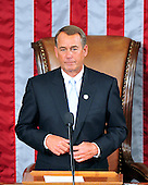United States House Speaker John Boehner (Republican of Ohio) after making remarks at the opening of the 112th Congress in the U.S. Capitol in Washington, D.C. on Wednesday, January 5, 2011..Credit: Ron Sachs / CNP.(RESTRICTION: NO New York or New Jersey Newspapers or newspapers within a 75 mile radius of New York City)