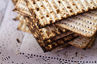 A stack of matzos or matzahs used in a Passover seder.