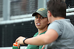 30 August 2015: William & Mary assistant coach Vanessa Mann. The Duke University Blue Devils hosted the William & Mary University Tribe at Koskinen Stadium in Durham, NC in a 2015 NCAA Division I Women's Soccer game. Duke won the game 2-0.