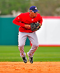 6 March 2009: Washington Nationals' shortstop Ian Desmond takes infield practice prior to a Spring Training game against the Baltimore Orioles at Fort Lauderdale Stadium in Fort Lauderdale, Florida. The Orioles defeated the Nationals 6-2 in the pre-season Grapefruit League matchup. Mandatory Photo Credit: Ed Wolfstein Photo
