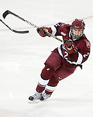 Josephine Pucci (Harvard - 2) - The Harvard University Crimson defeated the Northeastern University Huskies 4-3 (SO) in the opening round of the Beanpot on Tuesday, February 8, 2011, at Conte Forum in Chestnut Hill, Massachusetts.