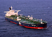 Indian Ocean - November 19, 2008 -- The Liberian-flagged oil tanker MV Sirius Star is at anchor Wednesday, November 19, 2008 off the coast of Somalia. The Saudi-owned very large crude carrier was hijacked by Somali pirates November 15 about 450 nautical miles off the coast of Kenya and forced to proceed to anchorage near Harardhere, Somalia. .Credit: William S. Stevens  - U.S. Navy via CNP