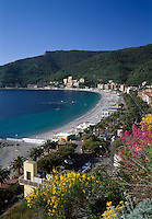 Italy, Liguria, Italian Riviera, Noli: resort at the Golfo di Genova