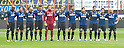 Inter team group line-up, OCTOBER 23, 2011 - Football / Soccer : Players observe a minute's silence to deah of Italian MotoGP rider Marco Simoncelli before the Italian &quot;Serie A&quot; match between Inter Milan 1-0 Chievo at Stadio Giuseppe Meazza in Milan, Italy. (Photo by Enrico Calderoni/AFLO SPORT) [0391]