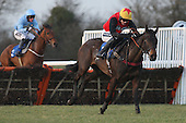 Race winner Kahsabelle ridden by Aidan Coleman in action during the PointToPoint.co.uk Hunters Chase - Horse Racing at Huntingdon Racecourse, Cambridgeshire - 23/02/12- MANDATORY CREDIT: Gavin Ellis/TGSPHOTO - Self billing applies where appropriate - 0845 094 6026 - contact@tgsphoto.co.uk - NO UNPAID USE.