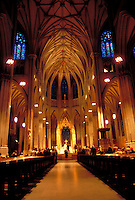 New York City, NY, St. Patrick's Cathedral, designed by James Renwick Jr. and William Rodrigue
