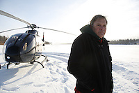 Bill Reinert, national Manager for Advanced Vehicle Engineering for Toyota, photographed along the Athabasca River in Northern Alberta - Tar Sand (Oil Sand) mining and refining near Ft McMurray Alberta
