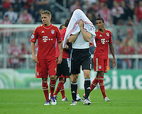 FUSSBALL   CHAMPIONS LEAGUE   SAISON 2011/2012     27.09.2011 FC Bayern Muenchen - Manchester City Der FC bayern braucht sich auch in Europa nicht verstecken; Torwart Manuel Neuer (re) und  Nils Petersen