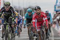 Nacer Bouhanni (FRA/Cofidis) crosses the finish line in the bunch<br /> <br /> 69th Kuurne-Brussel-Kuurne 2017 (1.HC)