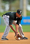 13 March 2008: Florida Marlins' infielder Jose Castillo warms up prior to a Spring Training game against the Washington Nationals at Space Coast Stadium, in Viera, Florida. The Marlins defeated the Nationals 2-1 in the Grapefruit League matchup...Mandatory Photo Credit: Ed Wolfstein Photo