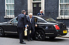 Cabinet meeting arrivals <br /> 10 Downing Street London Great Britain <br /> 25th October 2016 <br /> <br /> Henry Kissinger is an American diplomat and political scientist. He served as National Security Advisor and later concurrently as United States Secretary of State in the administrations of presidents Richard Nixon and Gerald Ford<br /> arriving in Downing Street after the cabinet meeting finished <br /> <br /> Photograph by Elliott Franks <br /> Image licensed to Elliott Franks Photography Services