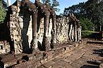 The Elephant Terrace at Angkor Thom, Cambodia. June 8, 2013.