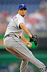 21 June 2008: Texas Rangers' starting pitcher Kason Gabbard on the mound against the Washington Nationals at Nationals Park in Washington, DC. The Rangers defeated the Nationals 13-3 in the second game of their 3-game inter-league series...Mandatory Photo Credit: Ed Wolfstein Photo