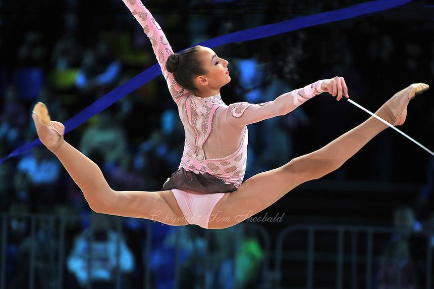 "VIKTORIA MAZUR of Ukraine performs in Event Final at 2011 World Cup Kiev, ""Deriugina Cup"" in Kiev, Ukraine on May 8, 2011."