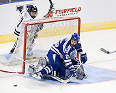 (Brockett) Tim Kirby (Air Force - 25), Jason Torf (Air Force - 29) - The Yale University Bulldogs defeated the Air Force Academy Falcons 2-1 (OT) in their East Regional Semi-Final matchup on Friday, March 25, 2011, at Webster Bank Arena at Harbor Yard in Bridgeport, Connecticut.