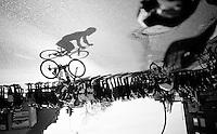 Frederik Veuchelen (BEL/Wanty-Groupe Gobert) &amp; his shadow racing<br /> <br /> Kuurne-Brussel-Kuurne 2016