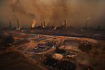 The Tianjin Steel Plant is a highly polluting enterprise that is deeply affecting the lives of the local residents. She County, Hebei Province. March 18, 2008.