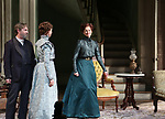 Richard Thomas, Cybthia Nixon and Laura Linney during the Broadway Opening Night Curtain Call bows for 'The Little Foxes' at Samuel J. Friedman Theatre on April 19, 2017 in New York City.