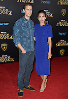 LOS ANGELES, CA. October 20, 2016: Elodie Yung &amp; Jonathan Howard at the world premiere of Marvel Studios' &quot;Doctor Strange&quot; at the El Capitan Theatre, Hollywood.<br /> Picture: Paul Smith/Featureflash/SilverHub 0208 004 5359/ 07711 972644 Editors@silverhubmedia.com