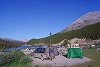 Camping at Summit Lake Campground, Stone Mountain Provincial Park, Northern BC, British Columbia, Canada - along Alaska Highway
