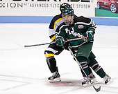 Travis Stevens (PSU - 18) - The visiting Plymouth State University Panthers defeated the Wentworth Institute of Technology Leopards 2-1 on Monday, November 19, 2012, at Matthews Arena in Boston, Massachusetts.
