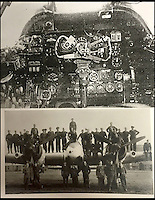 BNPS.co.uk (01202 558833)<br /> Pic: AdamPartridge/BNPS<br /> <br /> The cock pit of Sergeants Denys Chapman and Kenneth Leach's Beaufighter plane and 235 Squadron.<br /> <br /> The little-known story of a heroic Second World War pilot and navigator duo who were the real life version of Maverick and Goose from 80s film Top Gun has emerged after more than 70 years.<br /> <br /> Sergeants Denys Chapman and Kenneth Leach were both awarded a Distinguished Flying Medal - one of the air force's top awards - for their bravery fighting enemy aircraft in the 1940s.<br /> <br /> Unusually, Sergeant Leach got his when Command tried to give a second DFM to Sgt Chapman but he refused and insisted it go to his flying buddy for saving his life. <br /> <br /> The rare and important medals are now going up for sale together with Adam Partridge Auctioneers in Macclesfield, Cheshire.