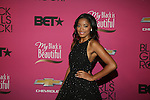 """Actress Keke Palmer Wearing a Novis Gown  Attends """"BLACK GIRLS ROCK!"""" Honoring legendary singer Patti Labelle (Living Legend Award), hip-hop pioneer Queen Latifah (Rock Star Award), esteemed writer and producer Mara Brock Akil (Shot Caller Award), tennis icon and entrepreneur Venus Williams (Star Power Award celebrated by Chevy), community organizer Ameena Matthews (Community Activist Award), ground-breaking ballet dancer Misty Copeland (Young, Gifted & Black Award), and children's rights activist Marian Wright Edelman (Social Humanitarian Award) Hosted By Tracee Ellis Ross and Regina King Held at NJ PAC, NJ"""