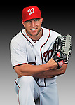 25 February 2011: Washington Nationals' outfielder Laynce Nix poses for his Photo Day portrait at Space Coast Stadium in Viera, Florida. Mandatory Credit: Ed Wolfstein Photo