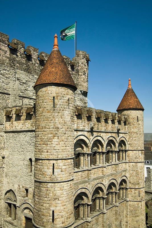 Belgium, Ghent, Gravensteen (Castle of the Counts)