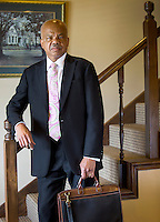NWA Democrat-Gazette/JASON IVESTER --05/20/2015--<br /> Eddie Walker Jr., attorney; Arkansas Bar Association's first African-American president; photographed on Wednesday, May 20, 2015, inside his law firm in Fort Smith for nwprofiles