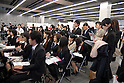College students attend a job fair held in Tokyo. 16 December, 2009. (Taro Fujimoto/JapanToday/Nippon News)