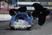 May 5, 2012; Commerce, GA, USA: NHRA funny car driver Bob Bode during qualifying for the Southern Nationals at Atlanta Dragway. Mandatory Credit: Mark J. Rebilas-
