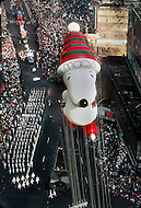 New York, U.S.A, 26th, November, 1987. Snoopy seen at the famous Macy's Thanksgiving Parade.