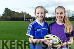 "Tralee Rugby Club National School's Girls' Rugby ""Give it a Try at O'Dowd Park, Tralee, on Tuesday. Pictured Cliodhna O'Connor McCarthy and Kate Currans from Mercy Moyderwell"