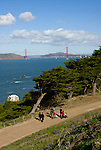 California: San Francisco. Land's End view of the Golden Gate. Photo copyright Lee Foster. Photo #: 25-casanf75730