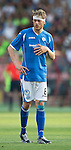 Alashkert FC v St Johnstone...02.07.15   Republican Stadium, Yerevan, Armenia....UEFA Europa League Qualifier.<br /> Murray Davidson bandaged up after his head knock<br /> Picture by Graeme Hart.<br /> Copyright Perthshire Picture Agency<br /> Tel: 01738 623350  Mobile: 07990 594431